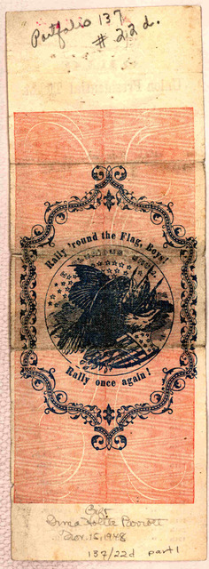 Ohio Union Presidental ticket [Cut with the following words in the center, A vigorous prosecution of the war, and no compromise under the sum of rebels.] For President Abraham Lincoln, of Illinois. For Vice President Andrew Johnson, of Tennessee
