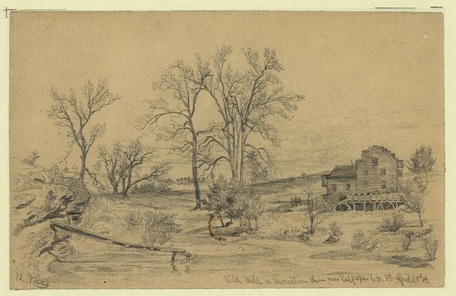 Old mill on Mountain Run near Culpepper [sic] Court House, Va. Apr. 21, 1864