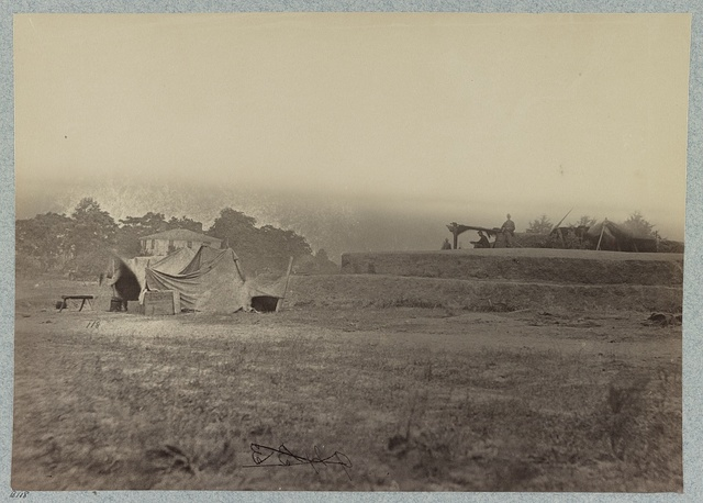 Outer line of Confederate fortifications, in front of Petersburg, Va., captured by 18th Army Corps, June 15, 1864