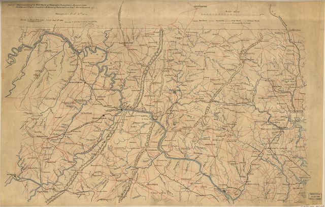 Part of map of portions of the milit'y dept's of Washington, Pennsylvania, Annapolis, and north eastern Virginia /