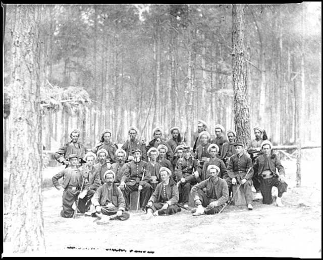 [Petersburg, Va. Group of Company G, 114th Pennsylvania Infantry (Zouaves)]