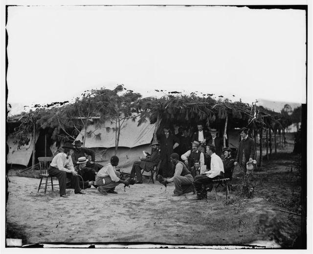 Petersburg, Virginia. Cock fighting at Gen. Orlando B. Willcox's headquarters