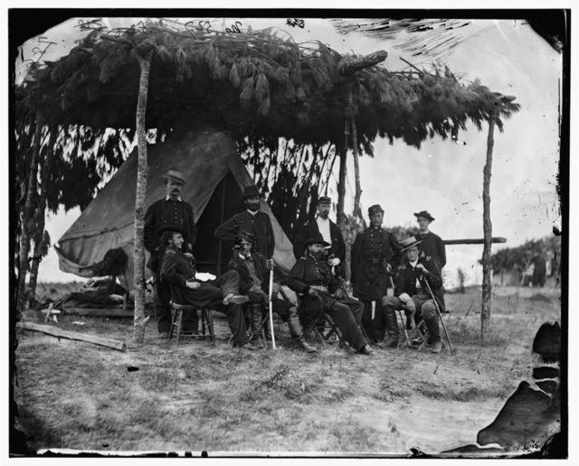 Petersburg, Virginia. Gen. Orlando B. Willcox and staff