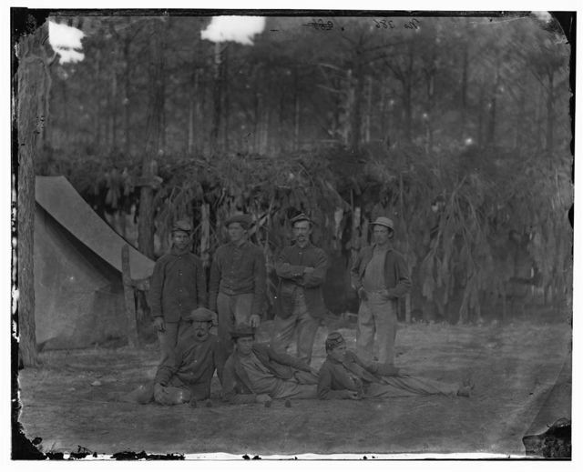 Petersburg, Virginia. Group of men of Company A, U.S. Engineer Battalion