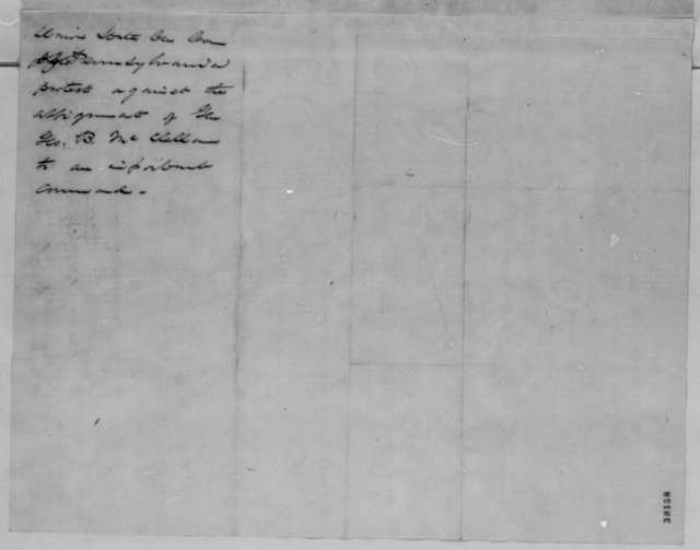 Philadelphia Union Central Committee, Thursday, November 10, 1864  (Resolution opposed to command for General McClellan; signed by Simon Cameron and A. W. Benecket)