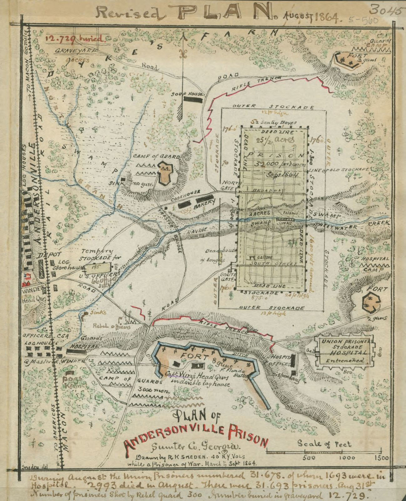 Map Of Georgia Prisons.Plan Of Andersonville Prison Sumter Co Georgia Picryl Public