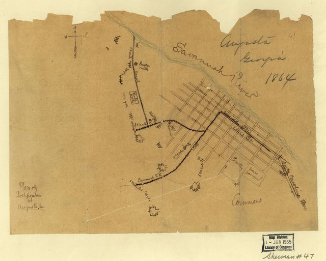 Plan of fortifications at Augusta, Ga.
