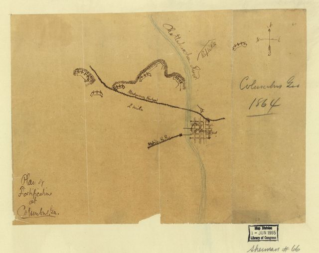 Plan of fortifications at Columbus, Ga.