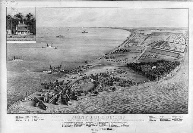 Point Lookout, Md - View of Hammond Genl. Hospital & U.S. Genl. Depot for prisoners of war