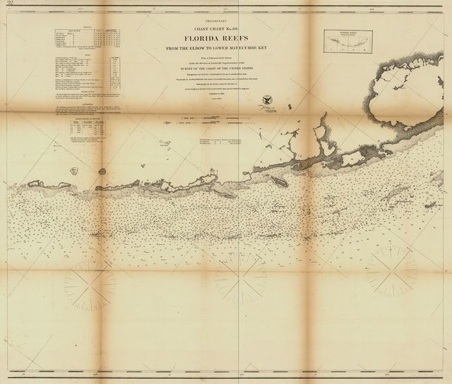 Preliminary coast chart ... Florida Reefs [on four sheets]