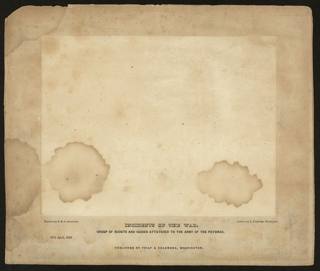 [Printed mount for Civil War photograph]