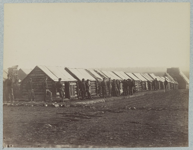 Quarters of Company D, U.S. Engineer Battalion, Brandy Station, Va., March, 1864