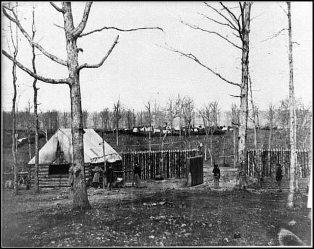 [Rappahannock Station, Va. Sutler's hut and stockade of 50th New York Engineers]