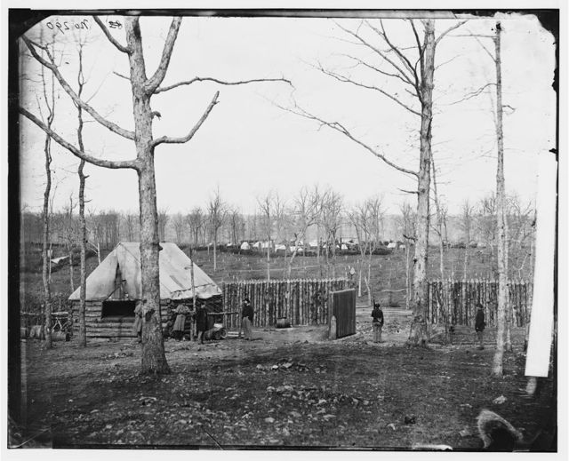[Rappahannock Station, Va. Sutler's hut and stockade of 50th New York Engineers]