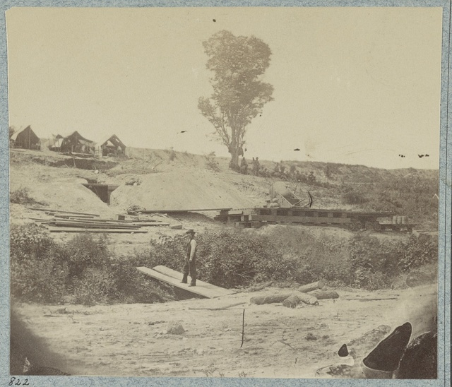 "[Rear view of the 13-inch Mortar ""Dictator"" in the works of Petersburg, Va. September 1, 1864]"