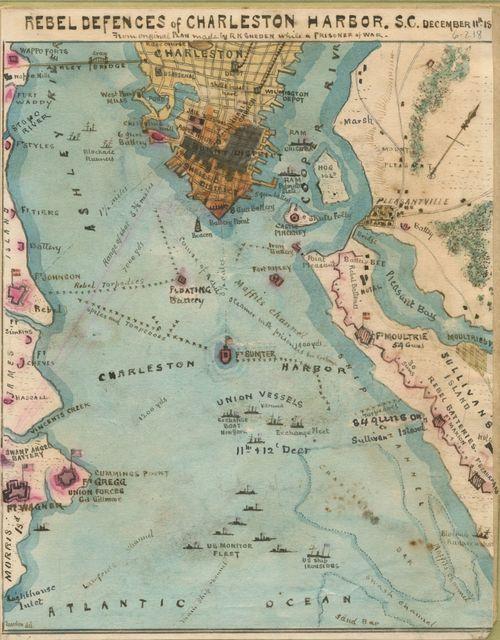 Rebel defences [sic] of Charleston Harbor, S.C., December 11th, 18[64]