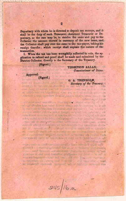 Regulations and instructions in reference to the receipt of four per cent certificates, in payment of the tax on coin, moneys held abroad, &c. Richmond, November 1, 1864,.