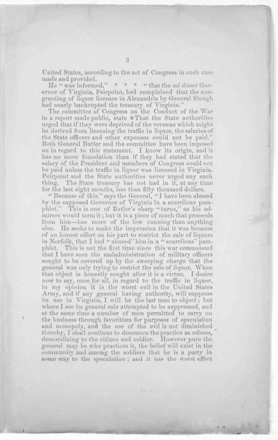 Reply to Gen. Butler's letter. The following letter from General Butler appeared in the New Regime, his own organ, published in Norfolk, and has been copied into some of the papers in the country. Lest it may mislead the public, I propose to exp