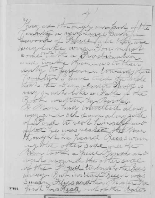 Richard E. Lewis to Abraham Lincoln, Tuesday, November 01, 1864  (Politics)
