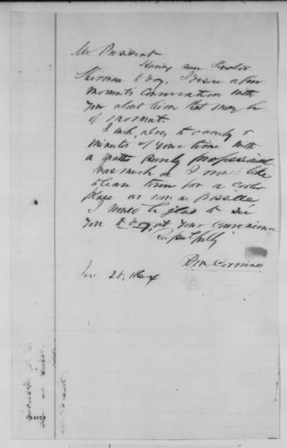 Richard M. Corwine to Abraham Lincoln, Tuesday, June 28, 1864  (Requests interview)