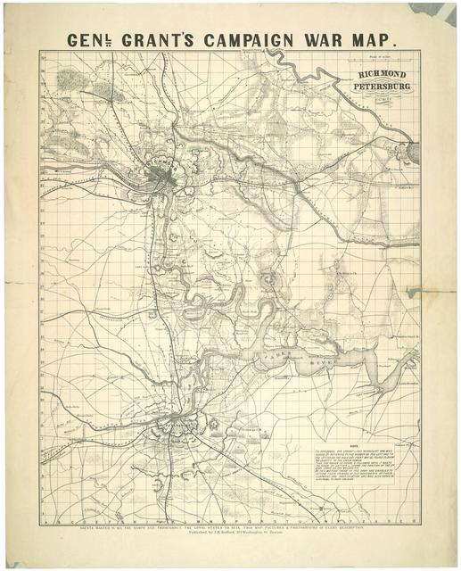 Richmond, Petersburg, and vicinity Genl. Grant's campaign war map /