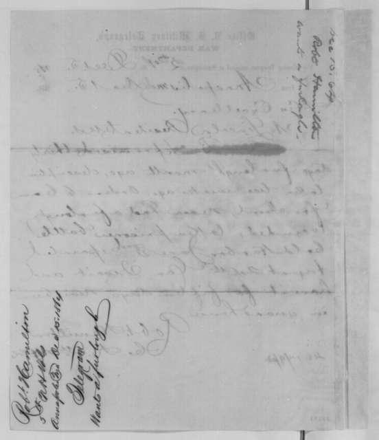 Robert Hamilton to Abraham Lincoln, Thursday, December 15, 1864  (Telegram requesting furlough)