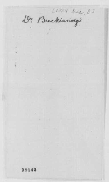 Robert J. Breckinridge to William C. Goodloe, Thursday, December 08, 1864  (Affairs in Kentucky)