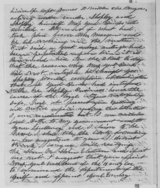 Ruben F. Briggs to Abraham Lincoln, Tuesday, March 15, 1864  (Political affairs in Louisiana)