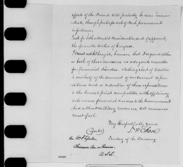 Salmon P. Chase to William P. Fessenden, Tuesday, April 12, 1864  (Financial affairs)