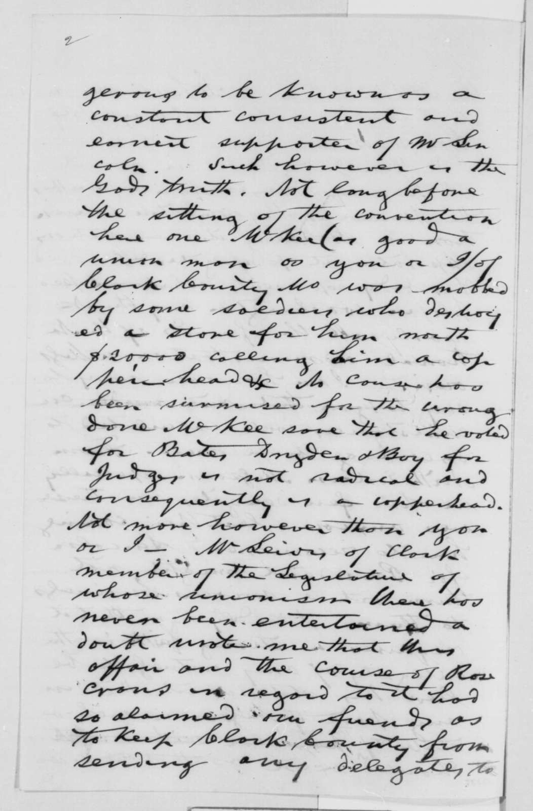 Samuel T. Glover to Montgomery Blair, Friday, May 27, 1864  (Political affairs in Missouri)