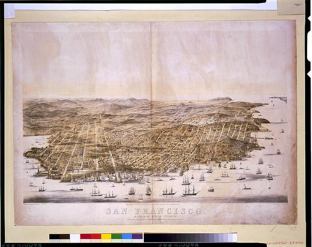 San Francisco. Bird's-eye view / drawn & lithographed by C.B. Gifford.