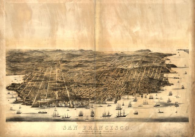 San Francisco. Bird's-eye view / drawn & lithographed by C.B. Gifford.
