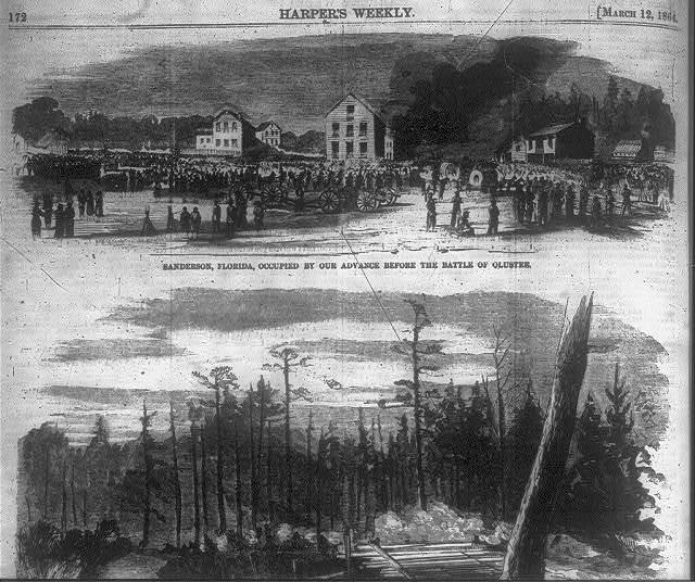 Sanderson, Florida, occupied by our advance before the battle of Olustee.