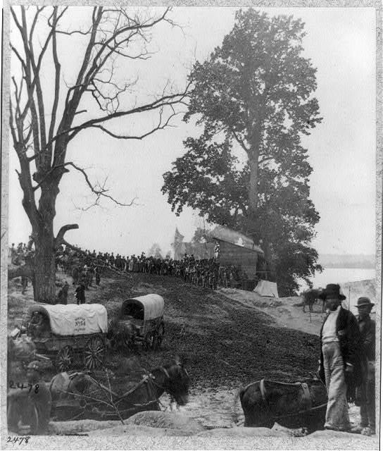 Sanitary Commission at Belle Plain Landing, Va., May 1864