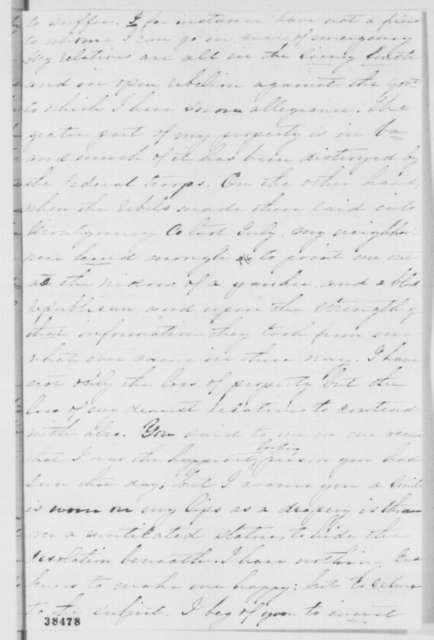 Sarah A. Richards to Abraham Lincoln, Friday, November 18, 1864  (Compensation for Maryland slaveholders)