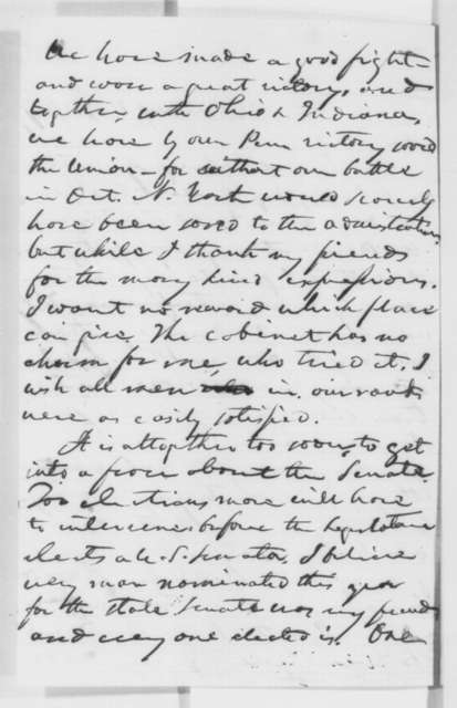 Simon Cameron to Richard McAllister, Sunday, November 13, 1864  (Bullock's case; endorsed by Lincoln on cover)