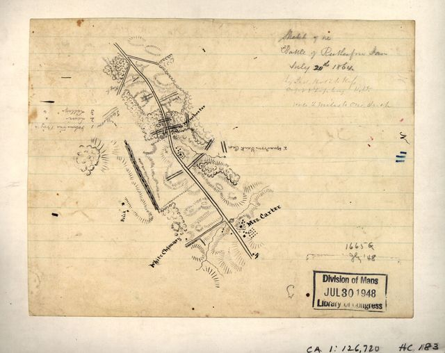 Sketch of the battle of Rutherford Farm, July 20th, 1864 /
