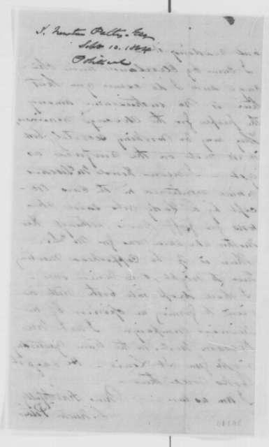 Solomon Newton Pettis to Abraham Lincoln, Saturday, September 10, 1864  (Ohio politics)