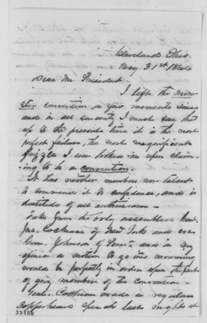 Solomon Newton Pettis to Abraham Lincoln, Tuesday, May 31, 1864  (Cleveland Convention)