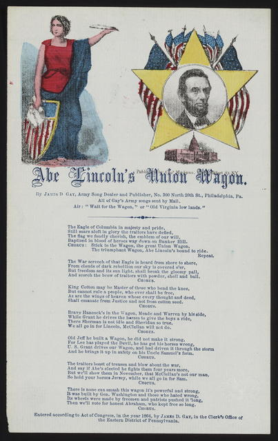 [song], Abe Lincoln's union wagon.