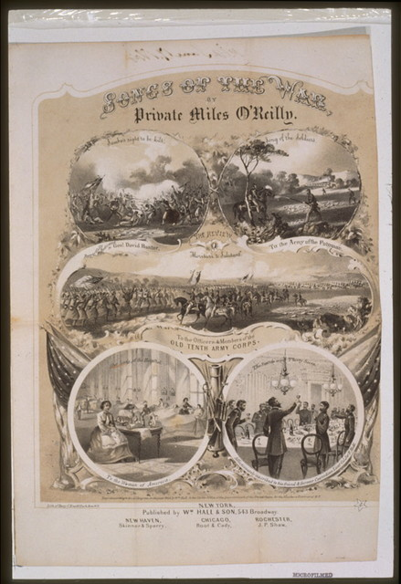 Songs of the War, by Private Miles O'Reilly / Lith. of Henry C. Eno, N.Y.