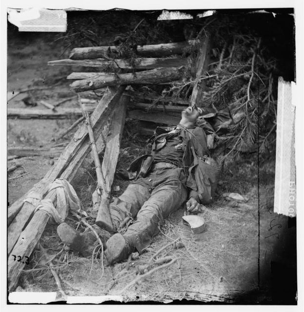 [Spotsylvania Court House, Va., vicinity. Body of a Confederate soldier near Mrs. Alsop's house]