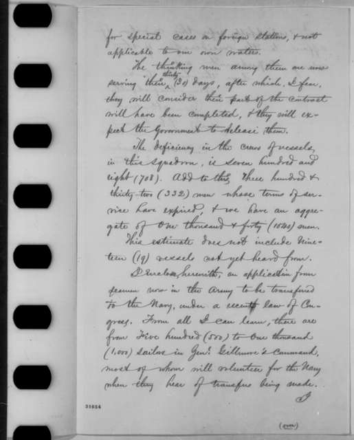 Stephen C. Rowan to Gideon Welles, Friday, March 18, 1864  (Naval affairs)
