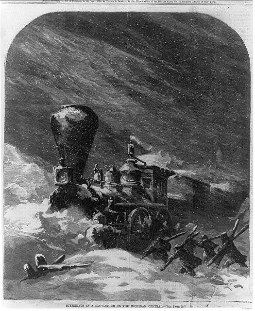 Sufferings in a snowstorm on the Michigan Central [Railroad]