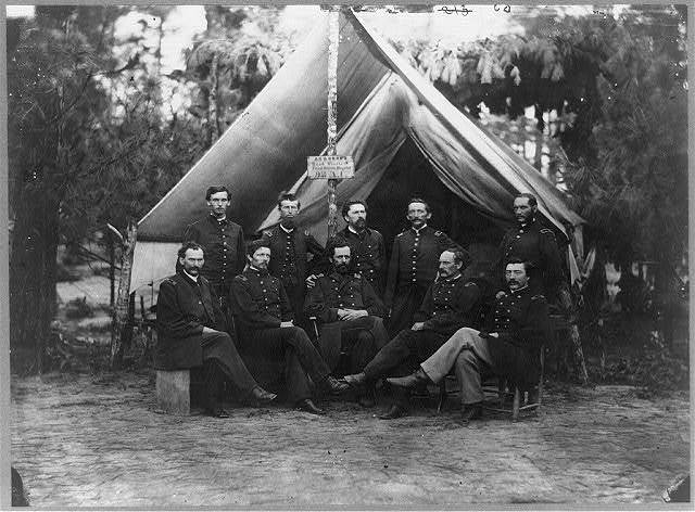 Surgeons of 3rd Division, 9th Army Corps, in front of Petersburg, Virginia, August 1864