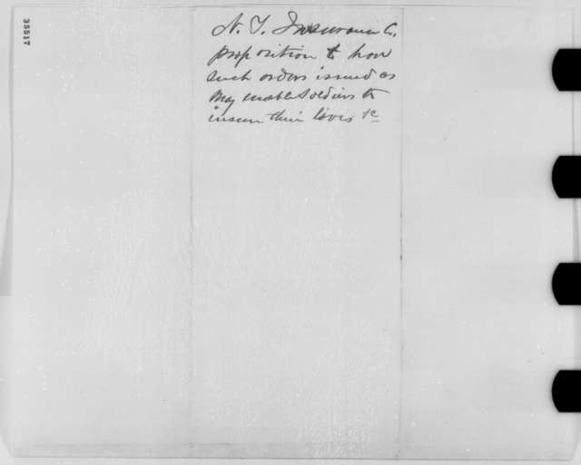 Sylvester O. Post to Abraham Lincoln, Tuesday, August 23, 1864  (Insurance for soldiers and sailors)