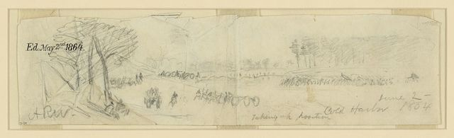 Taking up position. Cold Harbor. June 2, 1864
