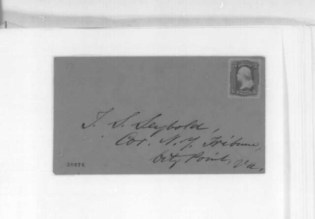Thad S. Seybold to Abraham Lincoln, Wednesday, November 30, 1864  (Offers services as secret agent)