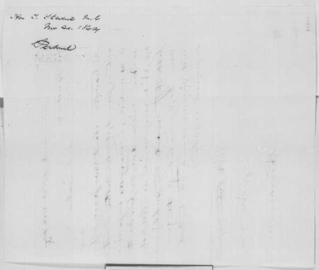 Thaddeus Stevens to Abraham Lincoln, Sunday, November 20, 1864  (Peace negotiations)