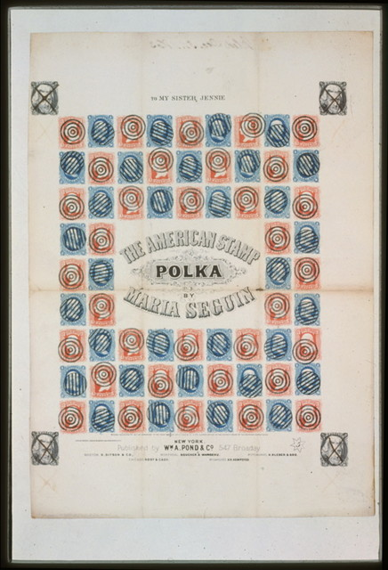 The American stamp polka by Maria Seguin / lith. of Sarony, Major & Knapp, 449 Broadway, N.Y.